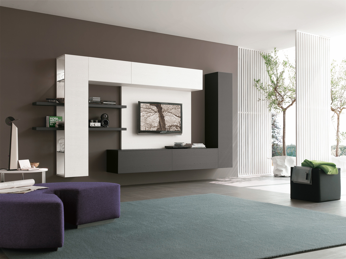 Current Tv Display Cabinets With Media Wall Furniture Tv And Sounds Contemporary Italian Furniture (View 4 of 20)