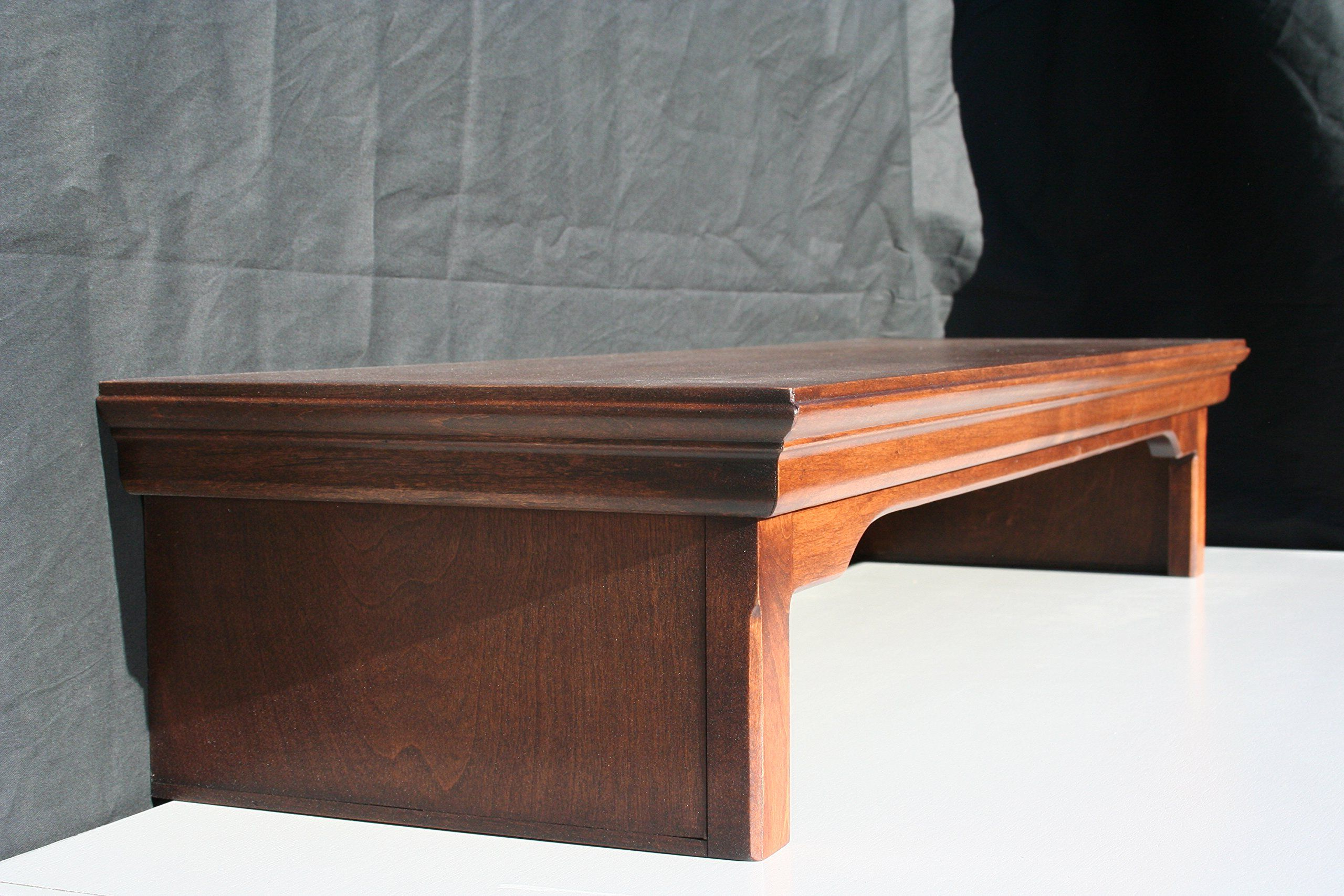 "Current Tv Riser Stand In Tv Riser Stand Traditional Style Alder Wood In Mocha (38"" Wide (View 8 of 20)"