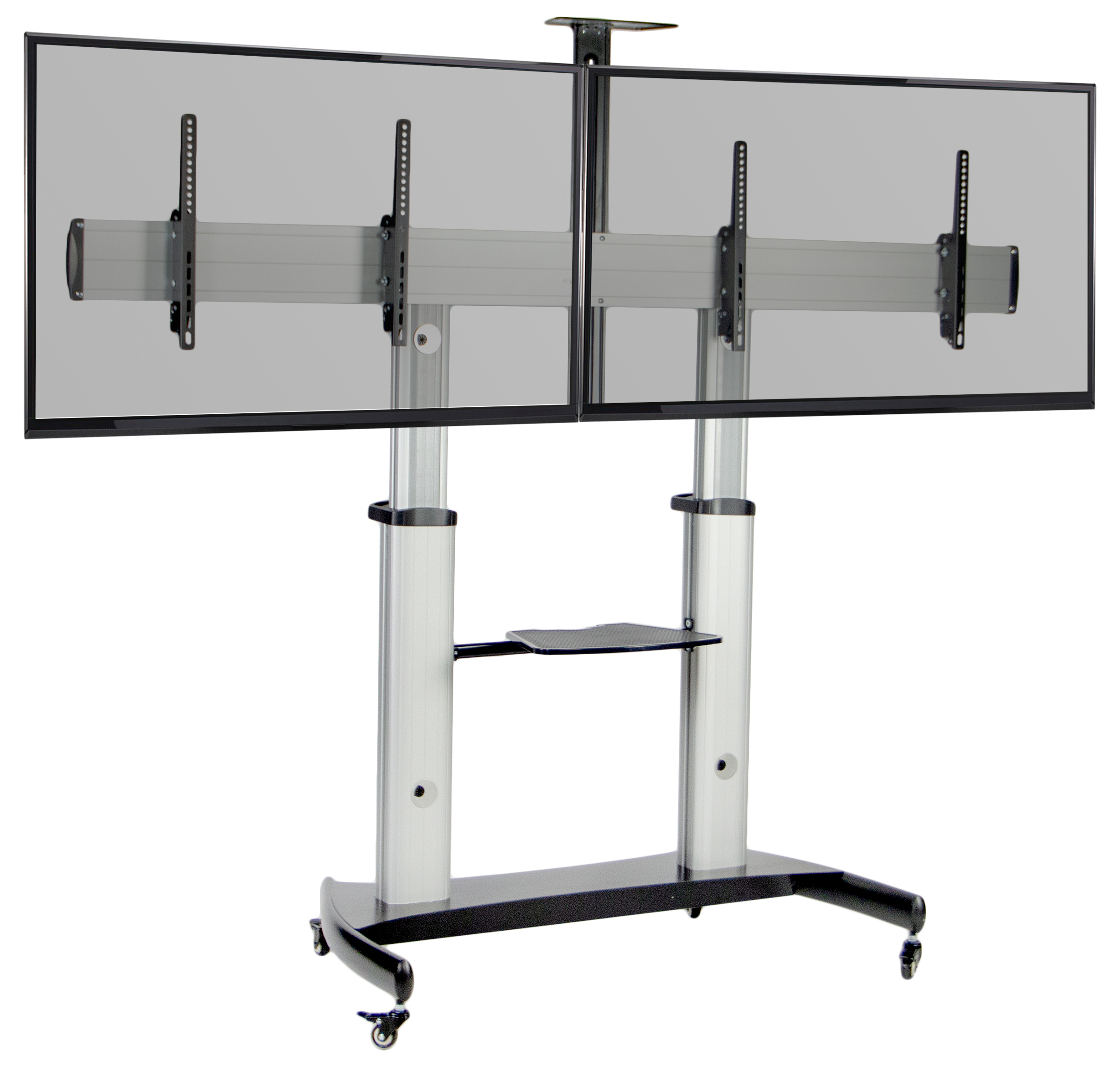 Current Vivo Ultra Heavy Duty Mobile Cart Dual Tv Stand (Gallery 17 of 20)