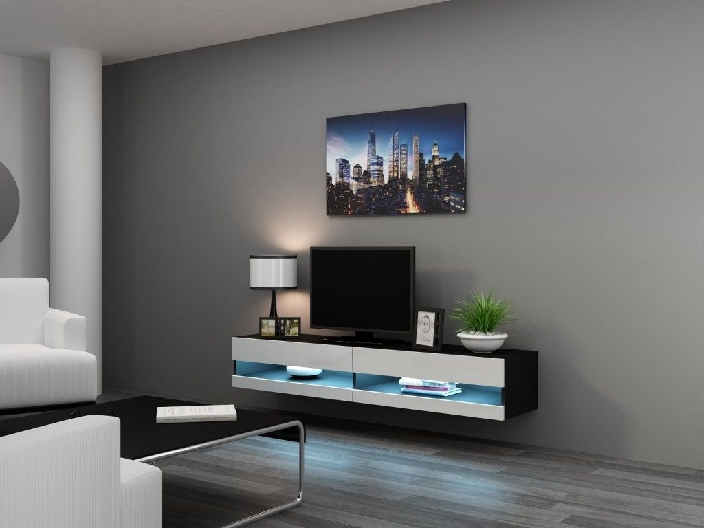 Current Wall Mounted Tv Racks In White Wall Mount Tv Cabinet With Stand Plus Gloss Mounted Together (Gallery 17 of 20)