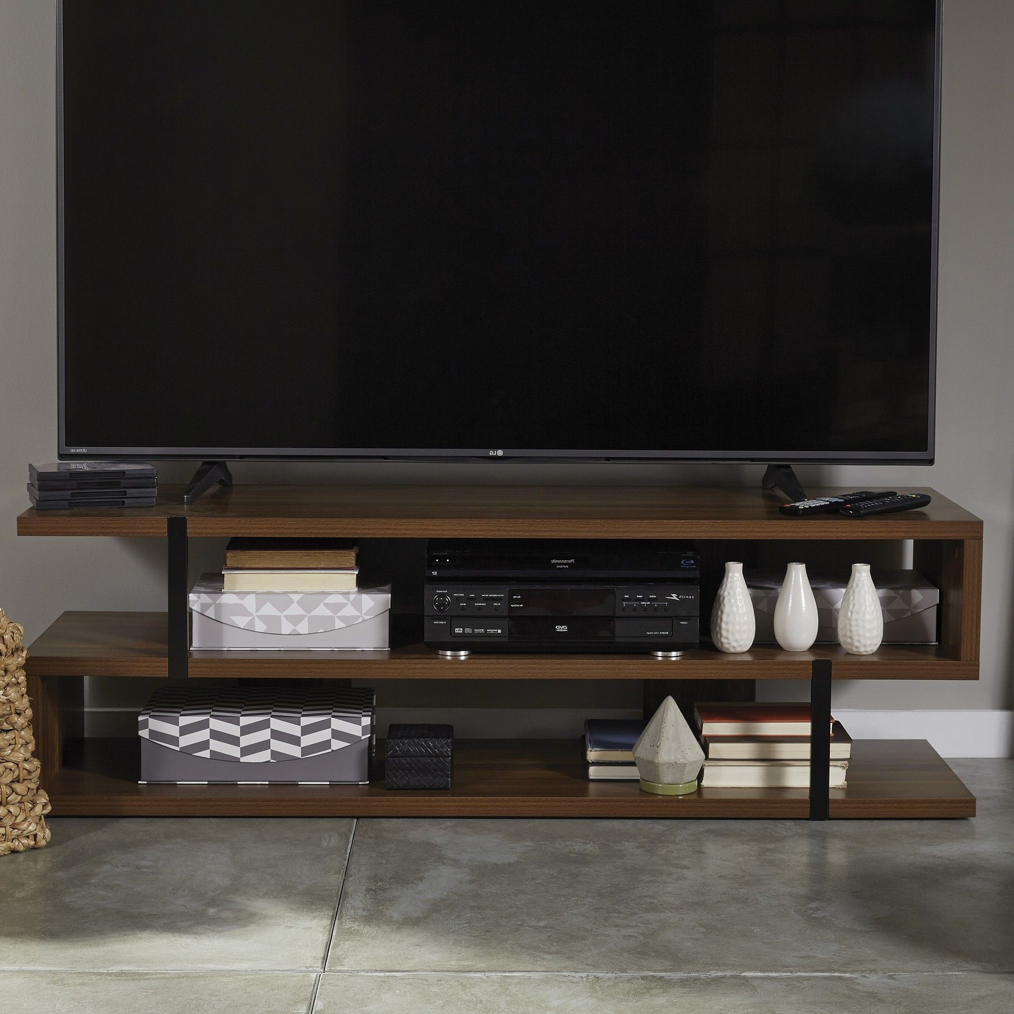 "Current Walton 74 Inch Open Tv Stands With Lincoln Tv Stand For Tvs Up To 65"" (Gallery 19 of 20)"