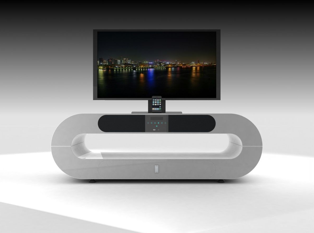 Current White Modern Tv Stands Throughout White Contemporary Tv Stand — All Contemporary Design : All (View 4 of 20)