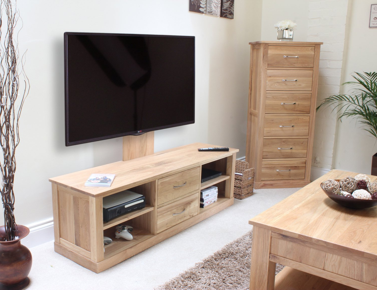 Current Wide Screen Tv Stands In Solid Wood Corner Entertainment Center Unfinished Media Cabinet (View 3 of 20)