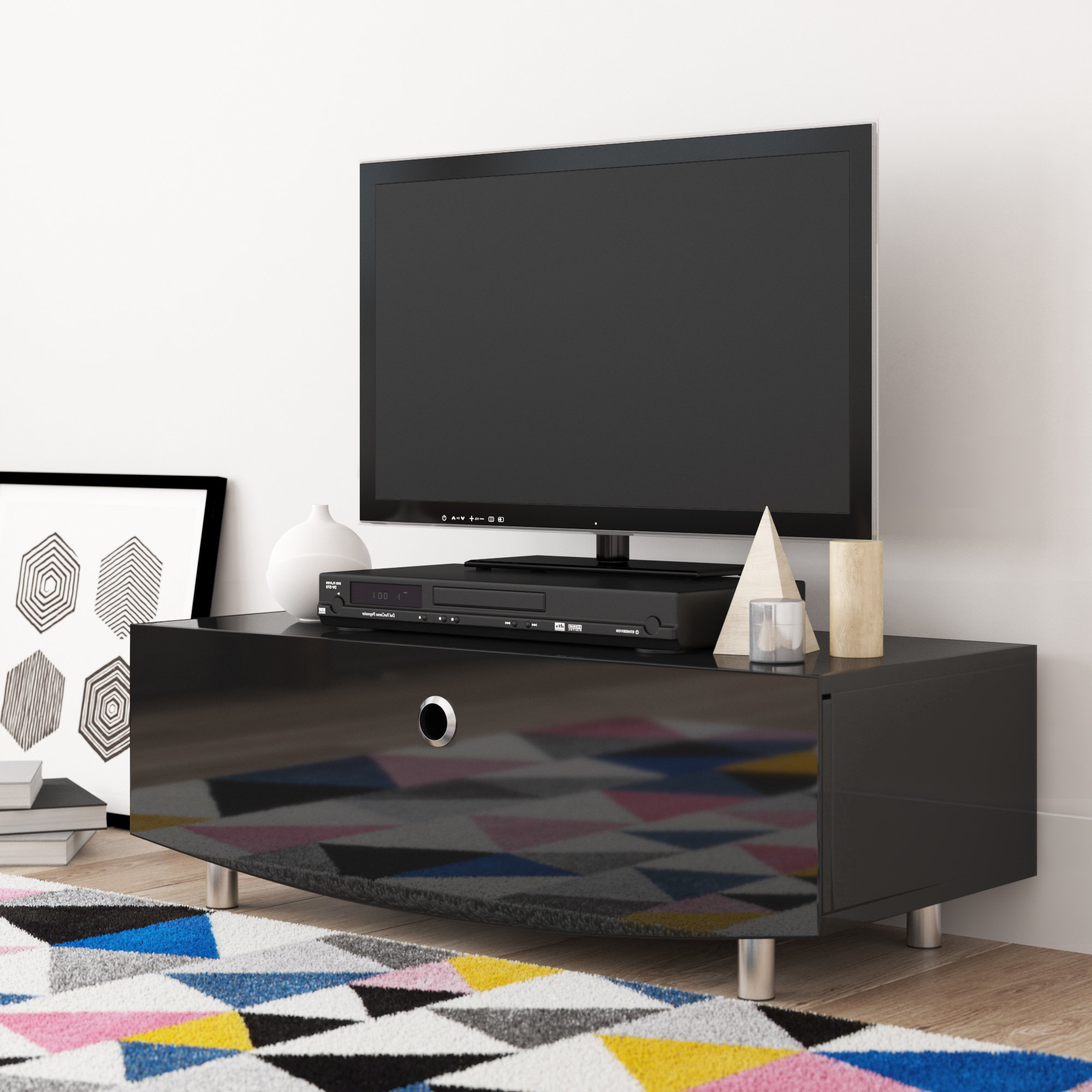 "Curve Tv Stands For Widely Used Mda Designs Curve Tv Stand For Tvs Up To 50"" (View 3 of 20)"