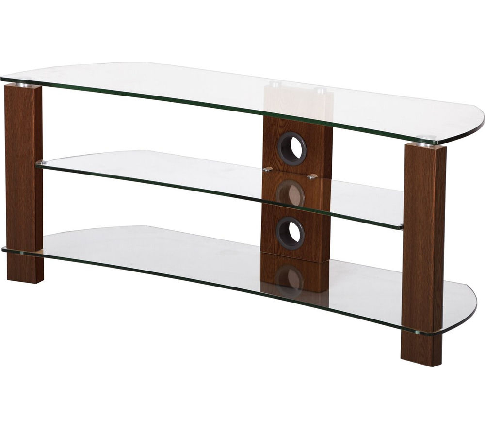 Curve Tv Stands In Most Recently Released Buy Ttap Vision Curve 1000 Tv Stand – Walnut (View 4 of 20)