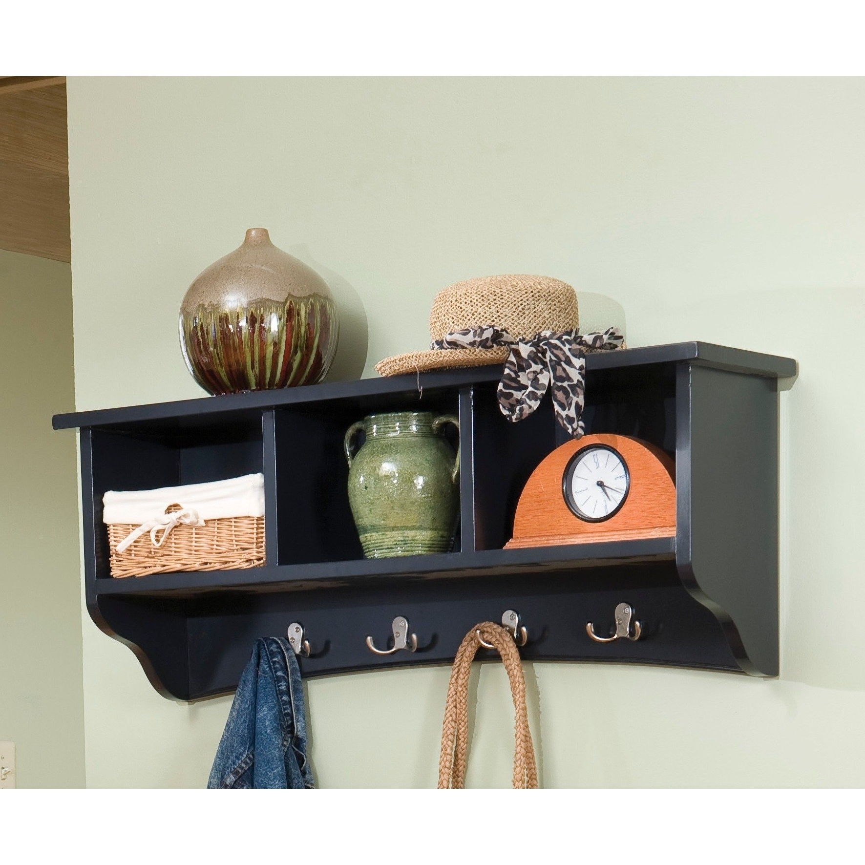 Daintree Tv Stands Pertaining To Recent Shop Copper Grove Daintree Storage Wall Coat Hook With Cubbies (Gallery 20 of 20)