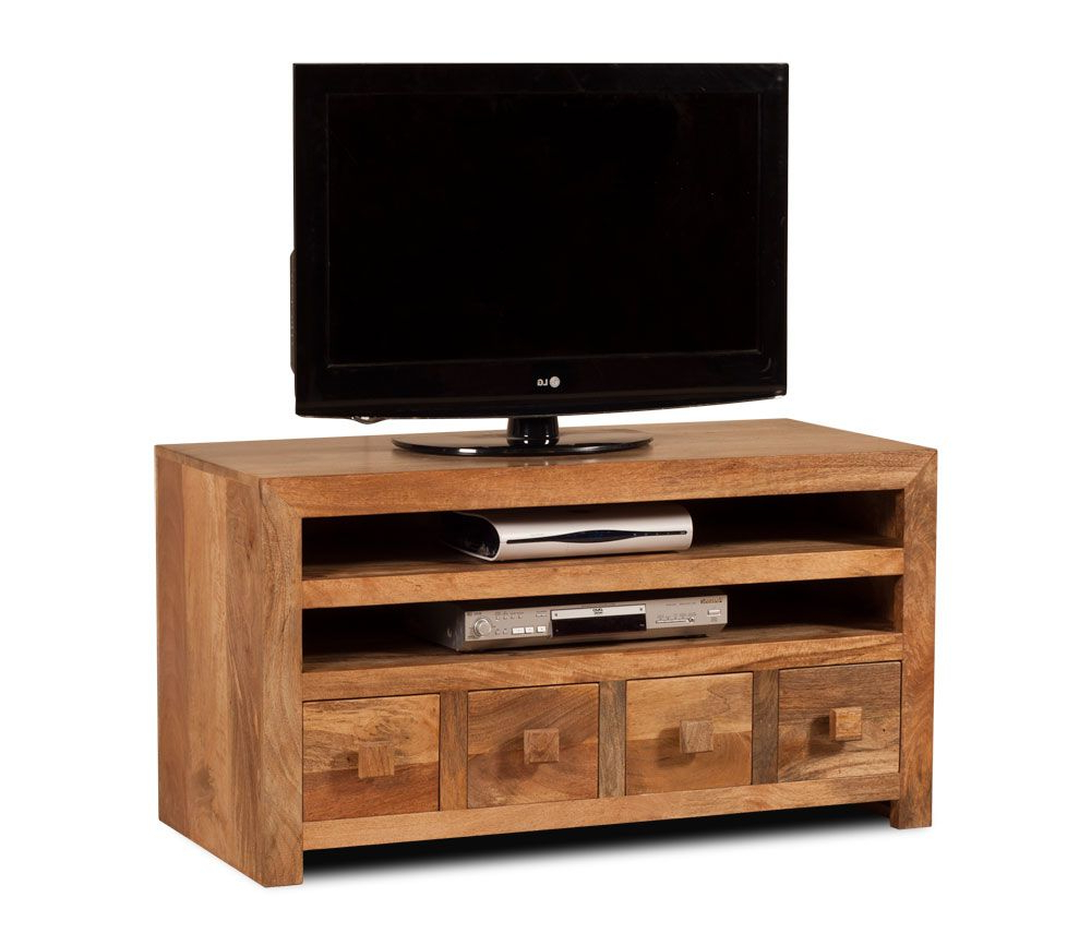 Dakota Light Mango Medium 4 Drawer Tv Unit  (View 4 of 20)