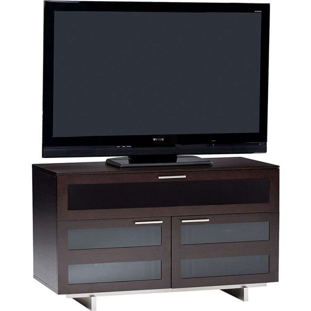 Dark Modern Wood Rustic Solid Storage Quality Real Wood In Latest Expresso Tv Stands (View 4 of 20)