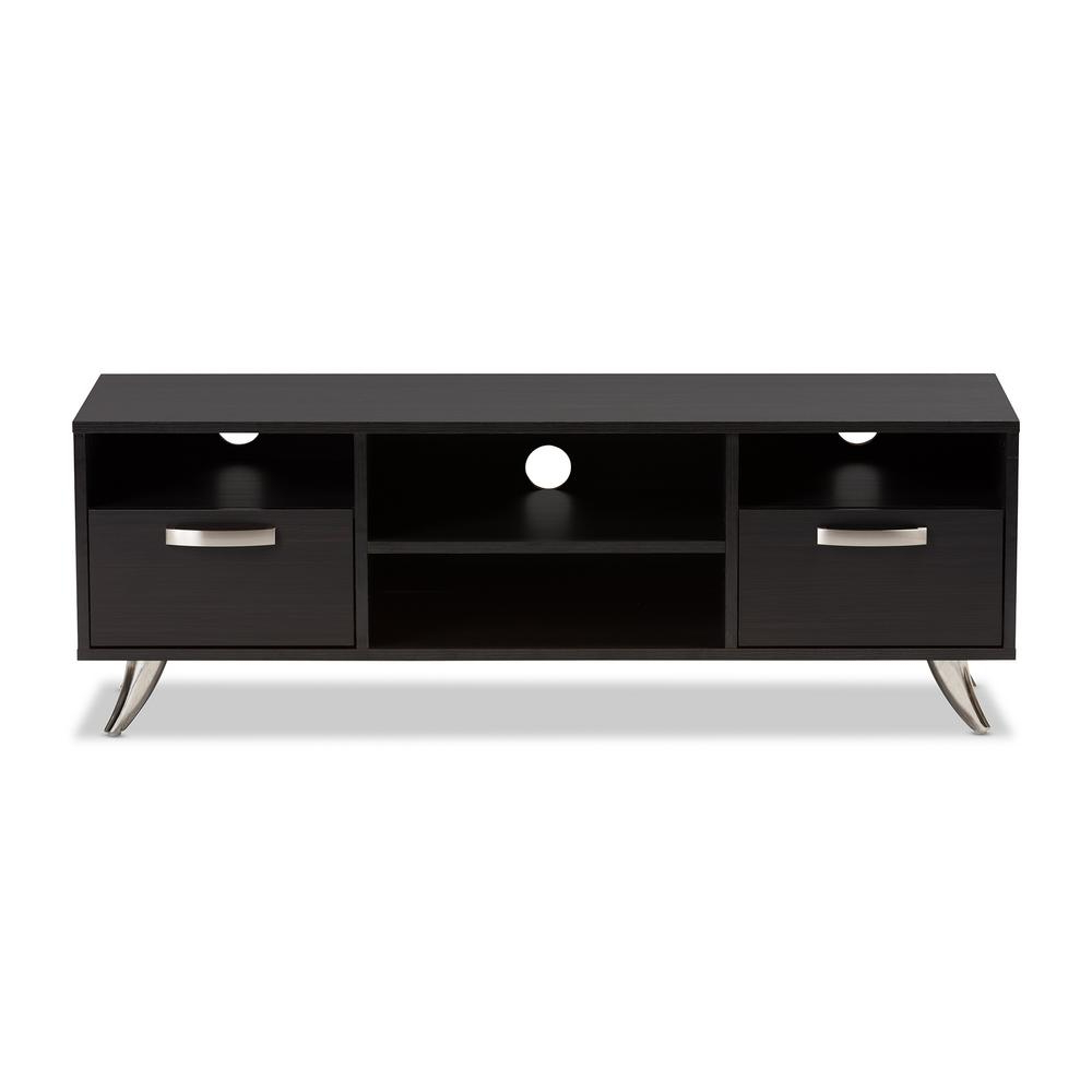 Dark Tv Stands For 2018 Baxton Studio Warwick Dark Brown 2 Drawer Tv Stand 28862 8013 Hd (View 5 of 20)