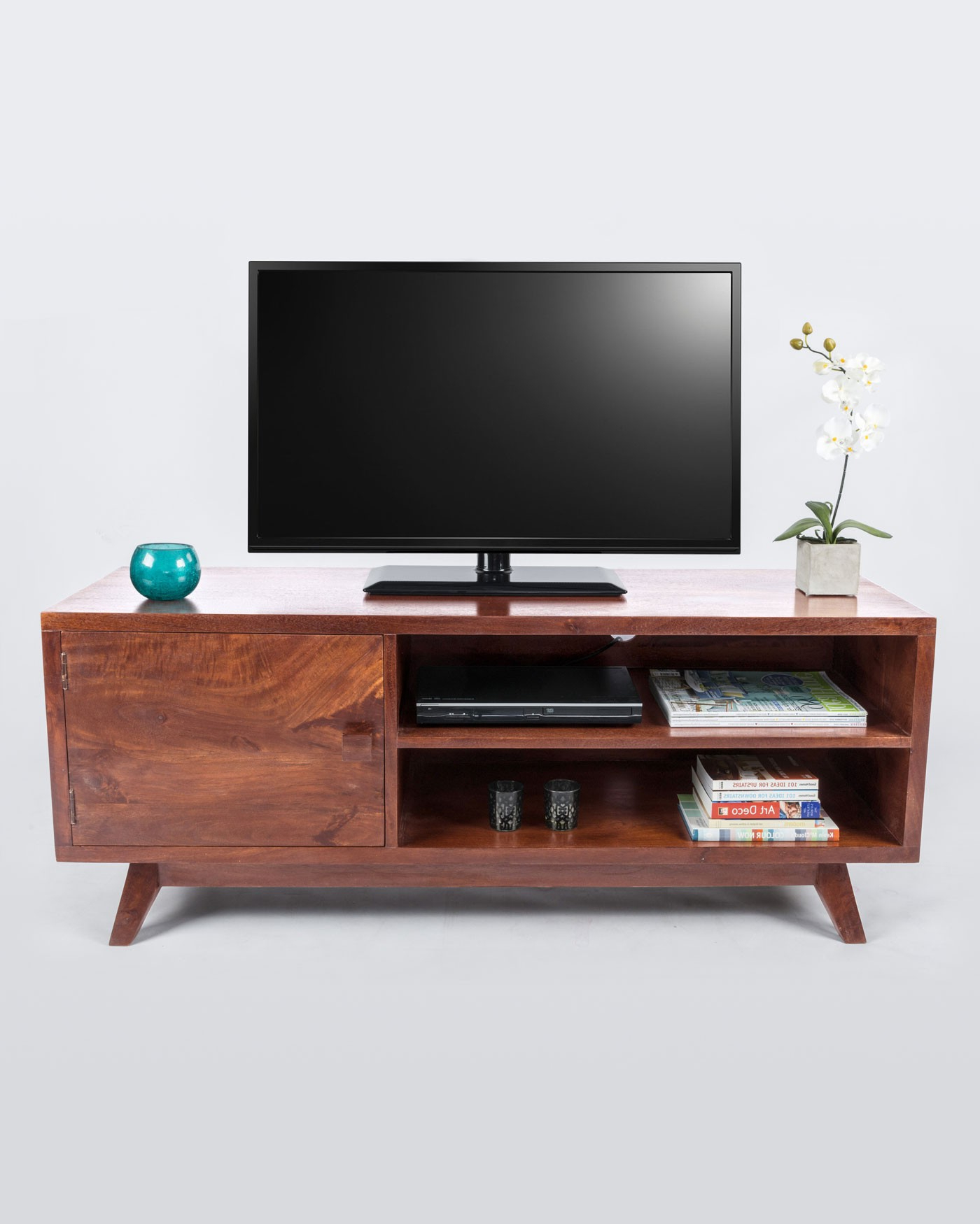 [%Dark Wood Tv Stand With Shelf Retro Design 100% Solid Wood – Homescapes With Regard To Preferred Dark Wood Tv Stands|Dark Wood Tv Stands Throughout Popular Dark Wood Tv Stand With Shelf Retro Design 100% Solid Wood – Homescapes|Trendy Dark Wood Tv Stands With Dark Wood Tv Stand With Shelf Retro Design 100% Solid Wood – Homescapes|Favorite Dark Wood Tv Stand With Shelf Retro Design 100% Solid Wood – Homescapes Intended For Dark Wood Tv Stands%] (View 1 of 20)