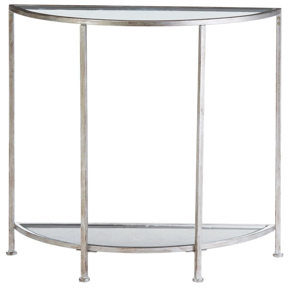 Demilune Console Table Regarding Bridgette Glam Mirrored Hsn Designs Intended For Recent Clairemont Demilune Console Tables (View 9 of 20)