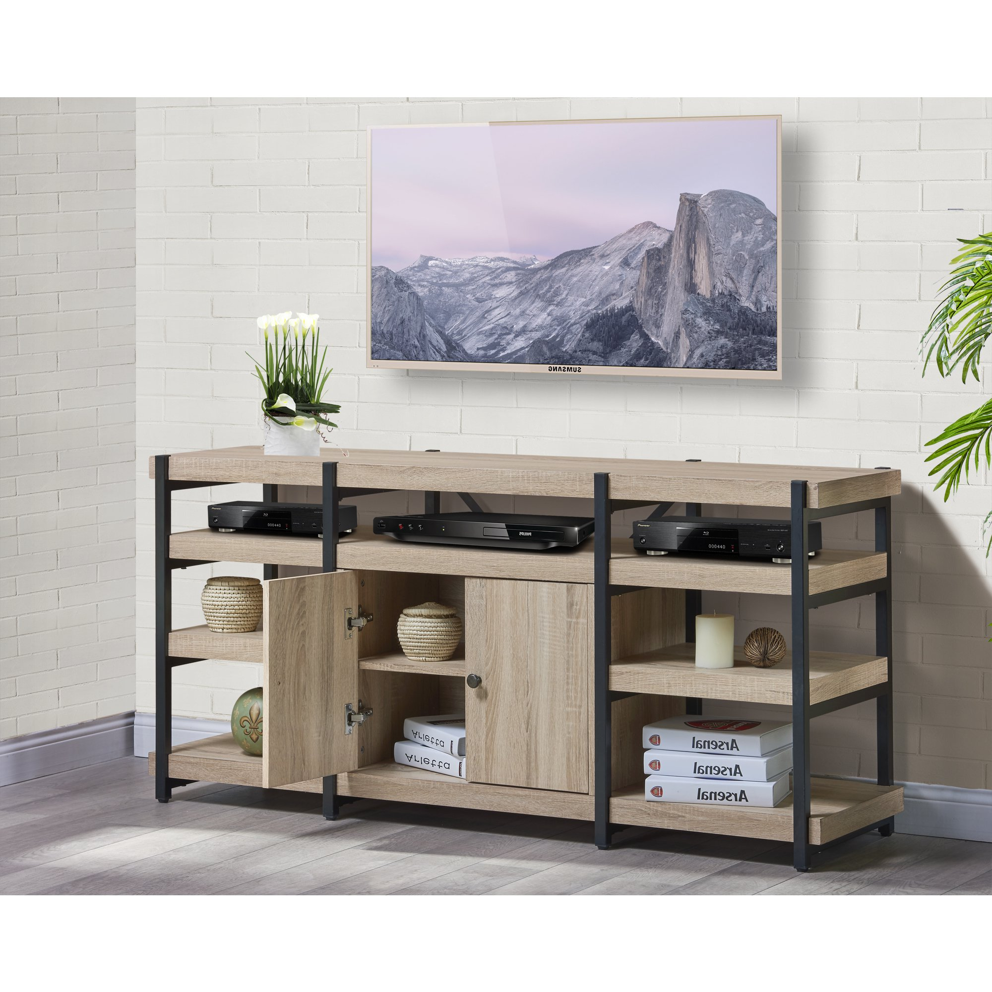 Denver Tv Stands Throughout Popular Shop Denver 61 Inch Tv Stand – Free Shipping Today – Overstock (Gallery 20 of 20)
