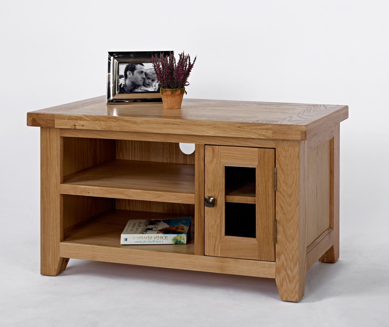 Devon Oak Small Tv Unit – Be Home Furniture In Preferred Small Oak Tv Cabinets (Gallery 3 of 20)