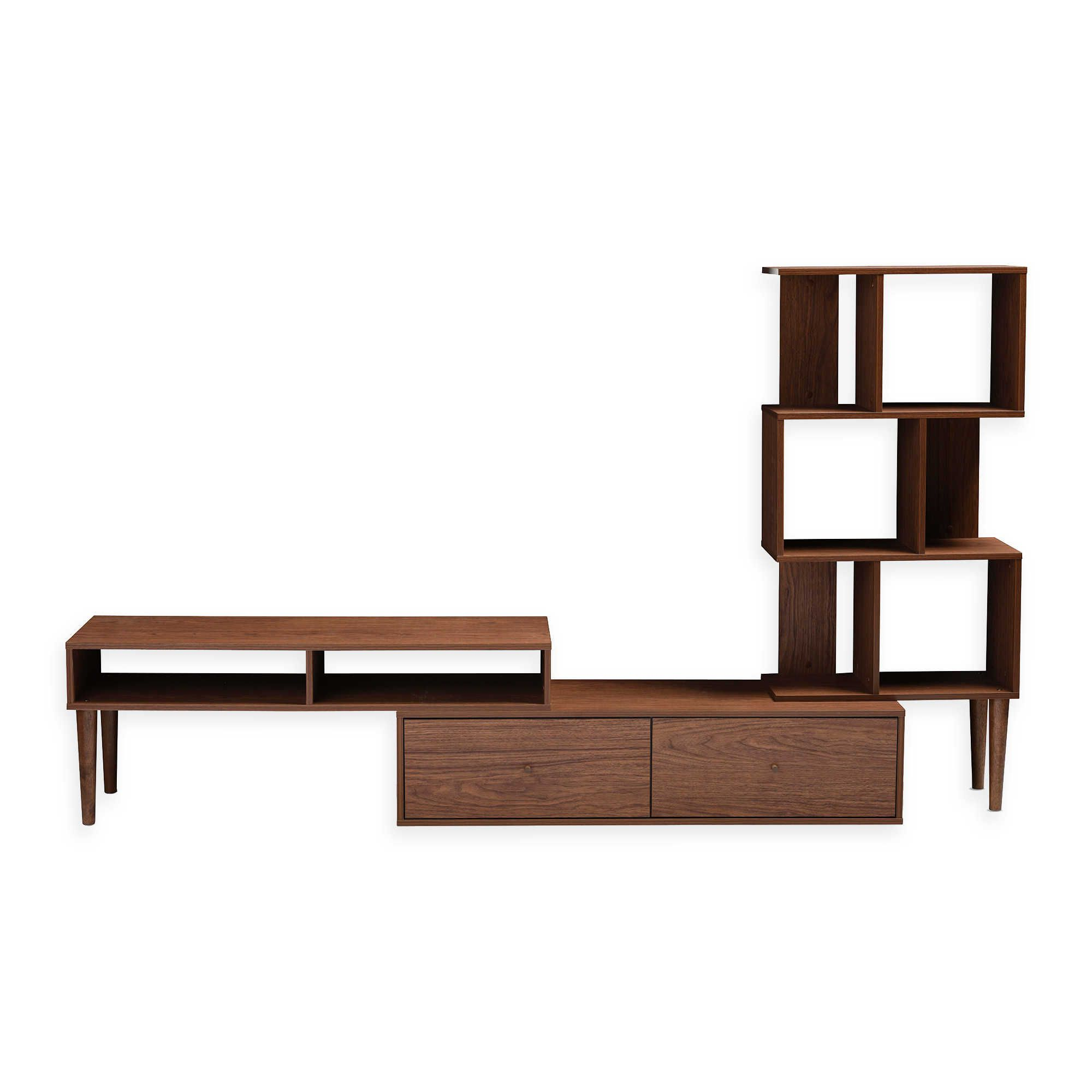 Dixon White 58 Inch Tv Stands With Regard To Widely Used Baxton Studio Tv Cabinet Table Wales Stand Espresso At Home With (Gallery 13 of 20)