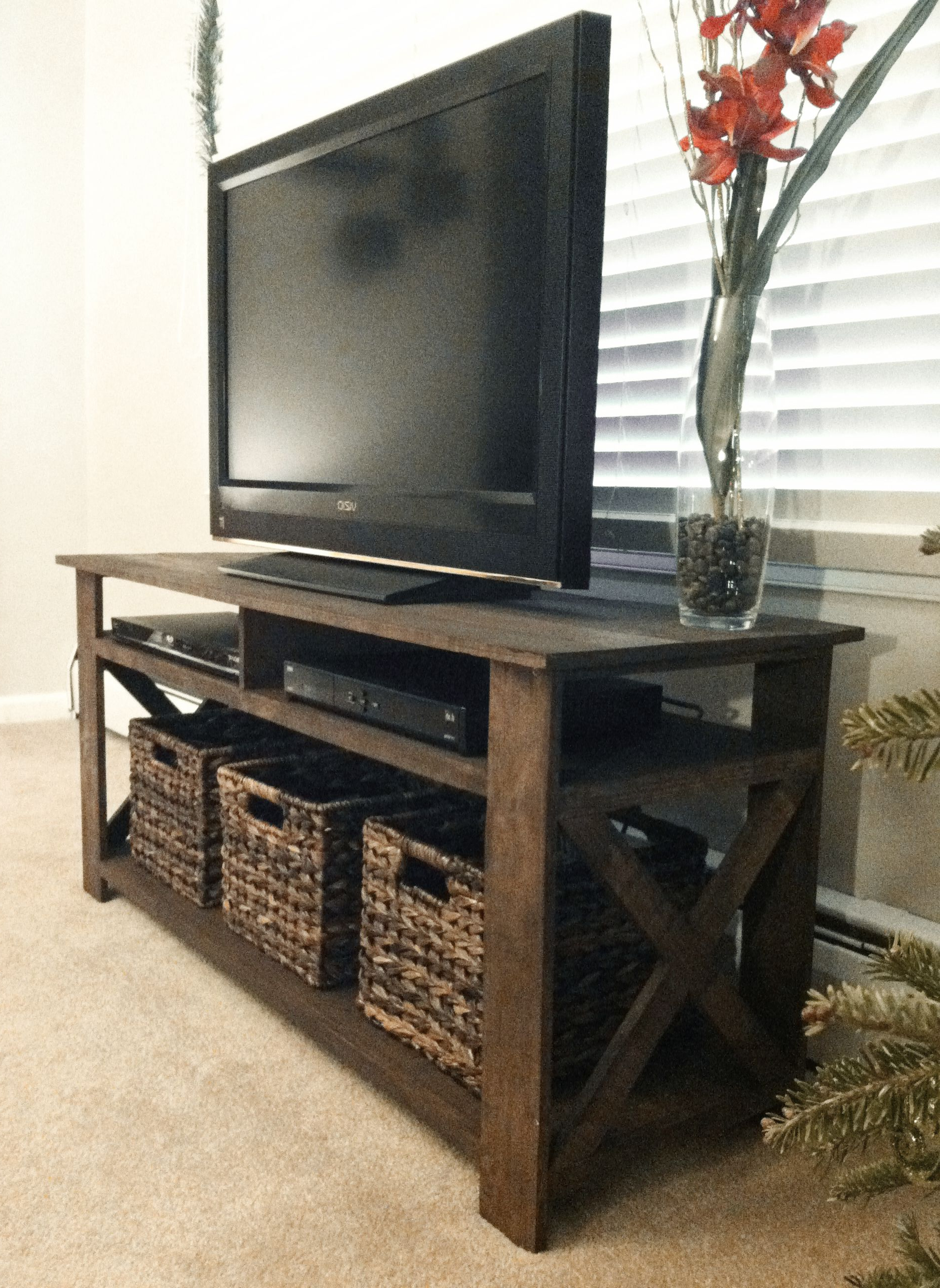 Diy Tv Stand Pertaining To Rustic Coffee Table And Tv Stand (View 4 of 20)