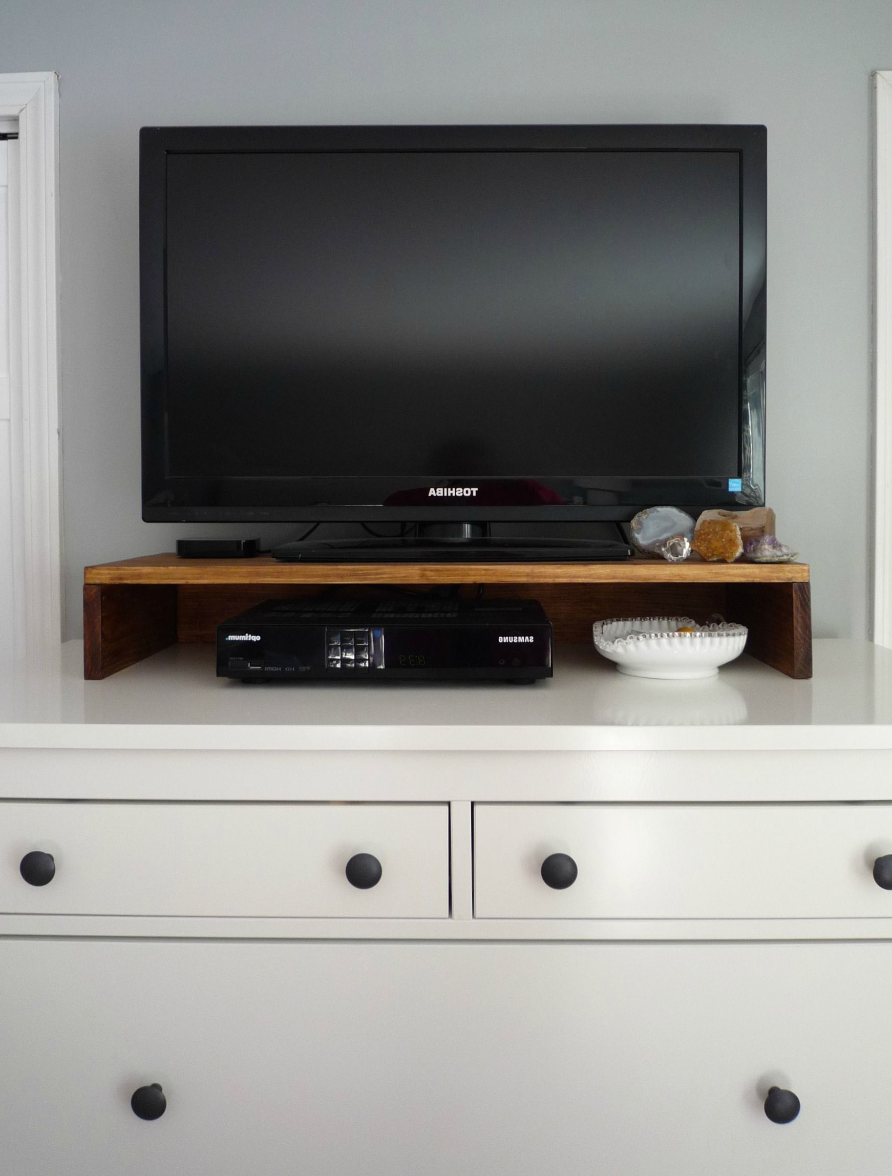 Diy Tv Stand, Tabletop Tv (Gallery 3 of 20)
