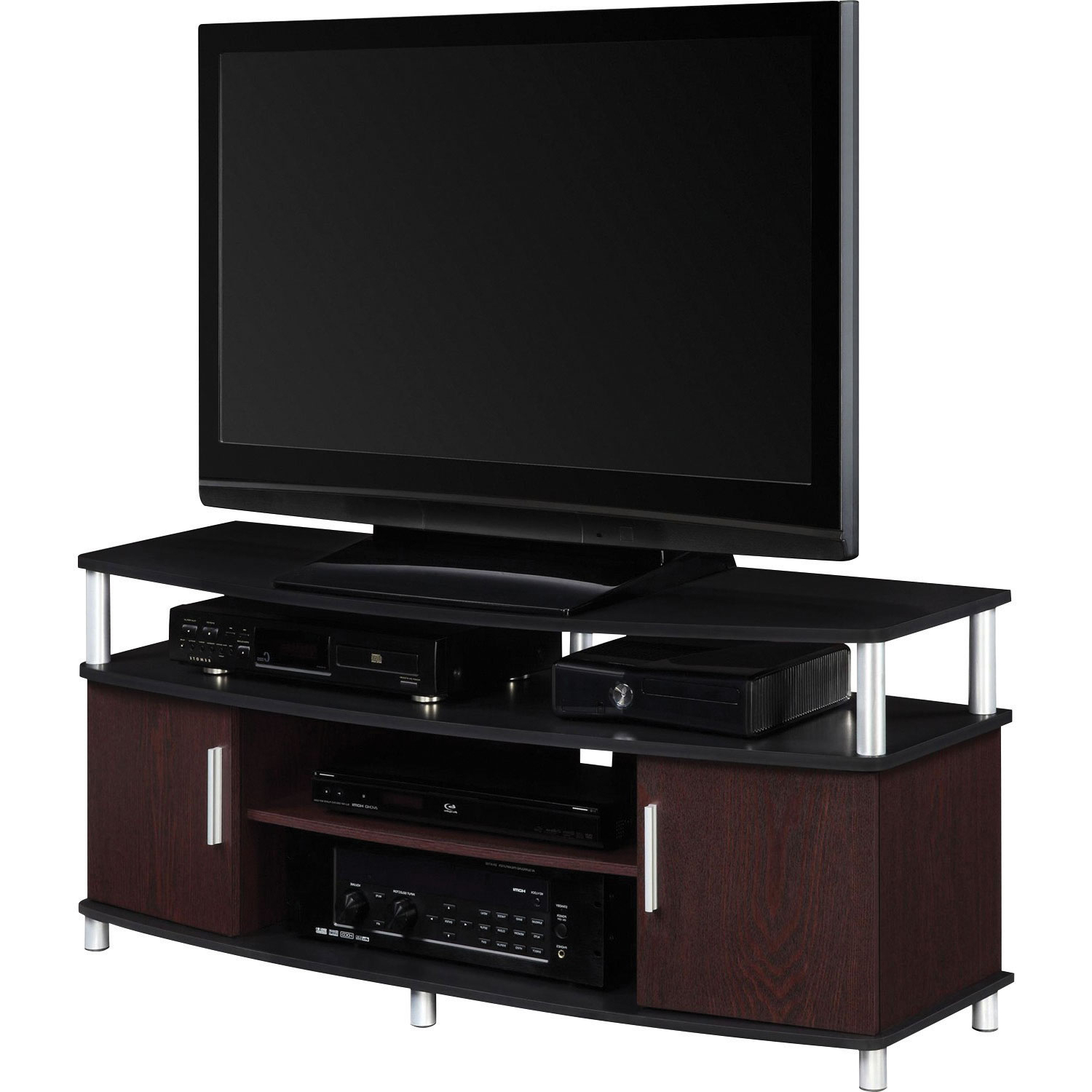 "Dorel Carson 50"" Tv Stand – Cherry/black : Tv Stands – Best Buy Canada Throughout 2017 Wooden Tv Stands For 50 Inch Tv (View 6 of 20)"