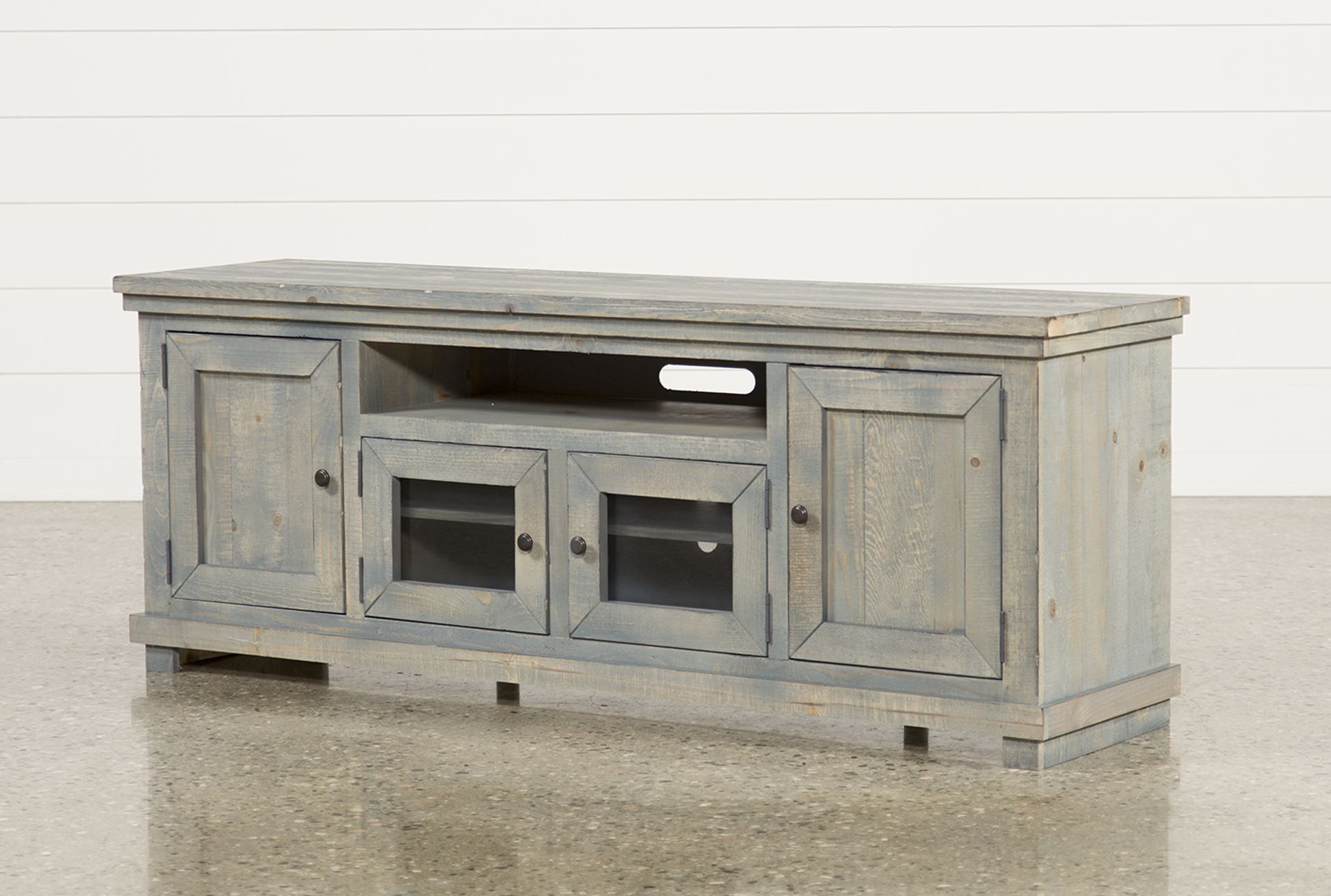 Ducar 64 Inch Tv Stands Intended For Most Popular 74 Inch Tv Stand, Sinclair Blue (View 6 of 20)