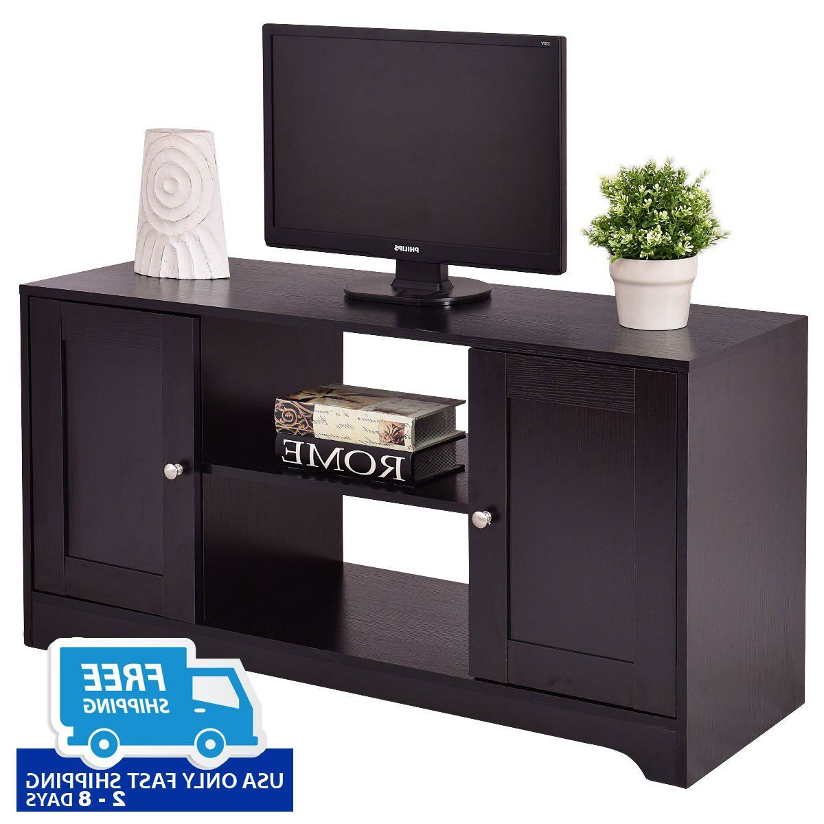Durable Wooden Tv Stand With Storage Cabinets (View 12 of 20)