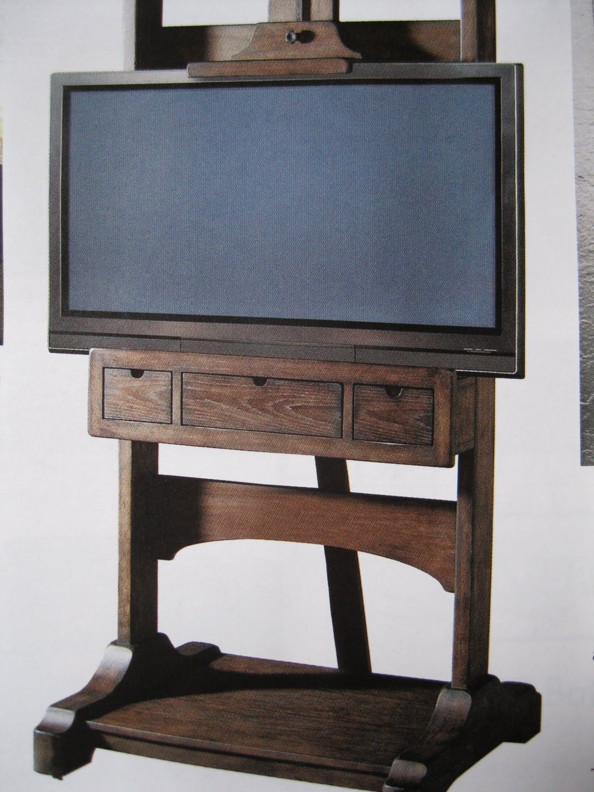 Easel Tv Stands For Flat Screens With Current Television Easle (View 2 of 20)