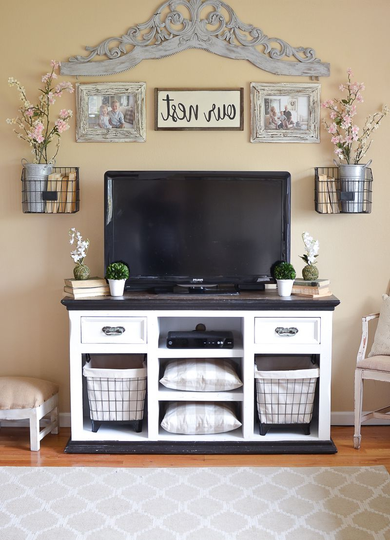 Easy Farmhouse Style Tv Stand Makeover (View 11 of 20)