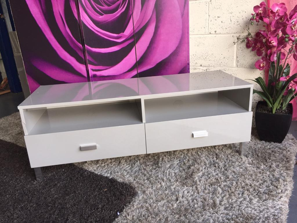Echo Tv Unit In High Gloss Stunning Grey – Suitable For Televisions Throughout Most Current Echo Tv Units (Gallery 1 of 20)