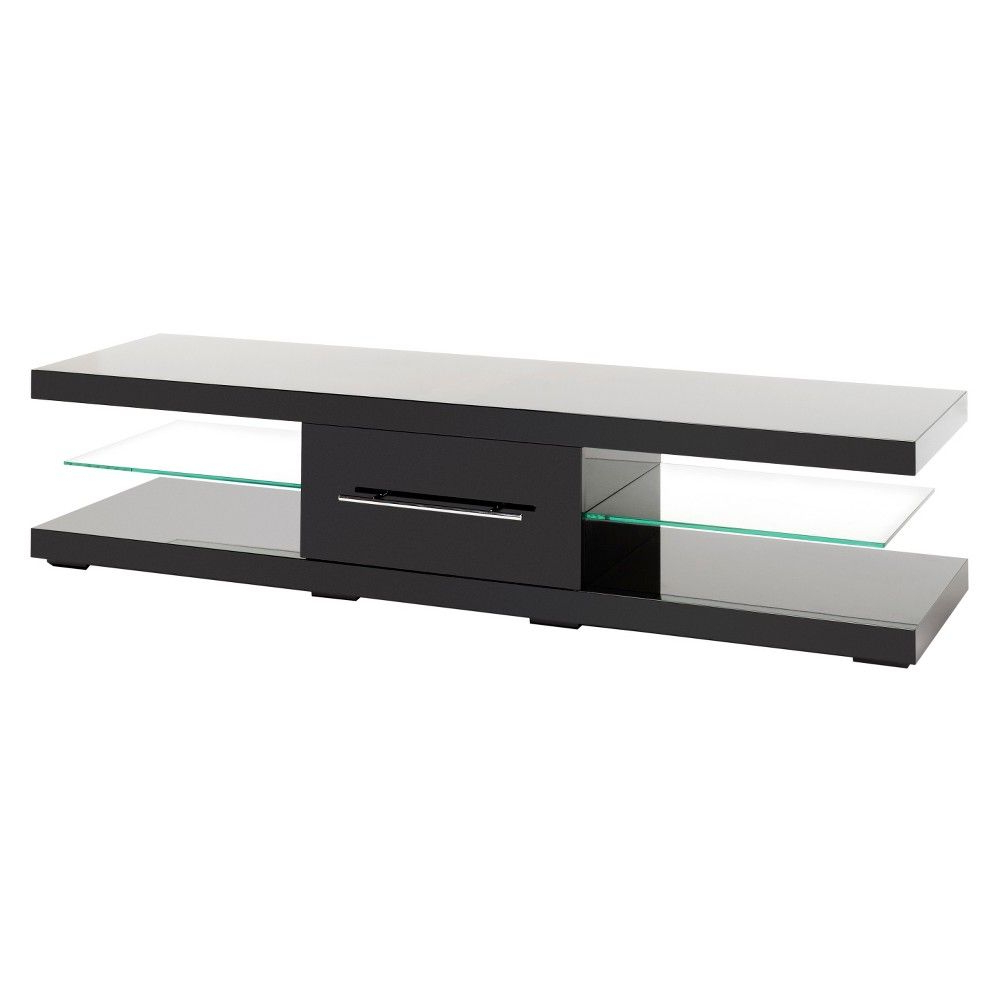 Echo Tv Units Within Favorite Echo Xl Low/extra Wide Cabinet With Drawer Black  75'  Techlink (View 10 of 20)