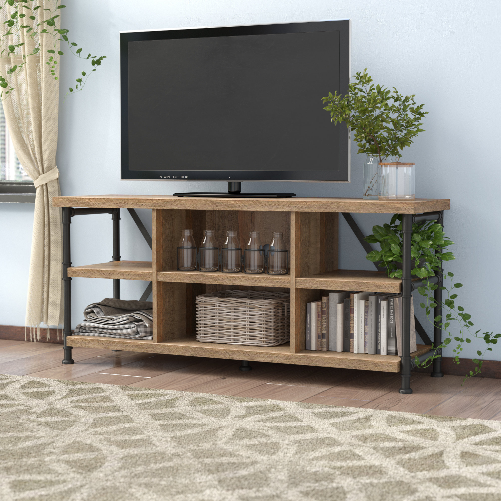 Edwin Black 64 Inch Tv Stands Intended For Popular 60 64 Inch Tv Stands (View 9 of 20)