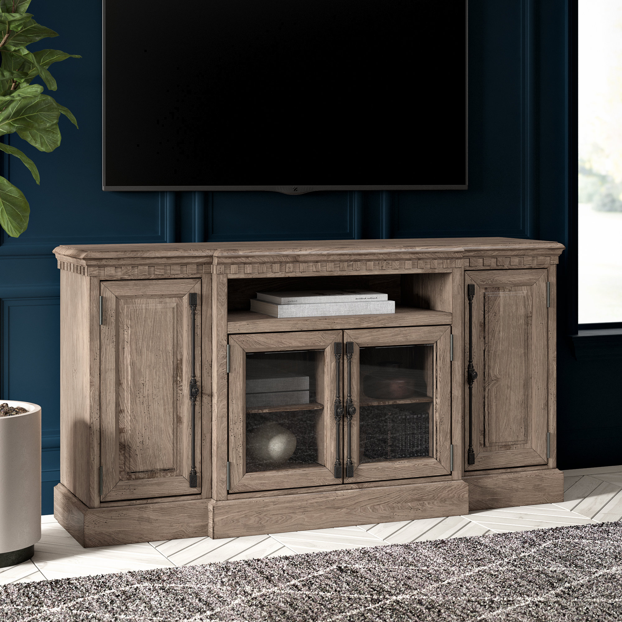 Edwin Black 64 Inch Tv Stands Regarding Best And Newest Tall Tv Stands You'll Love (View 10 of 20)
