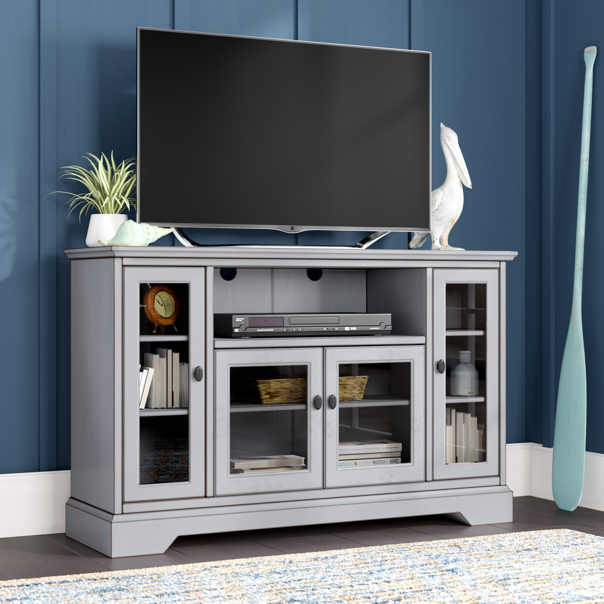 Edwin Grey 64 Inch Tv Stands With Regard To Well Liked Tall Tv Stands You'll Love (View 7 of 20)