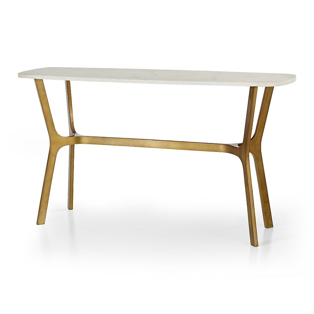 Elke Marble Console Table With Brass Base (Gallery 2 of 20)