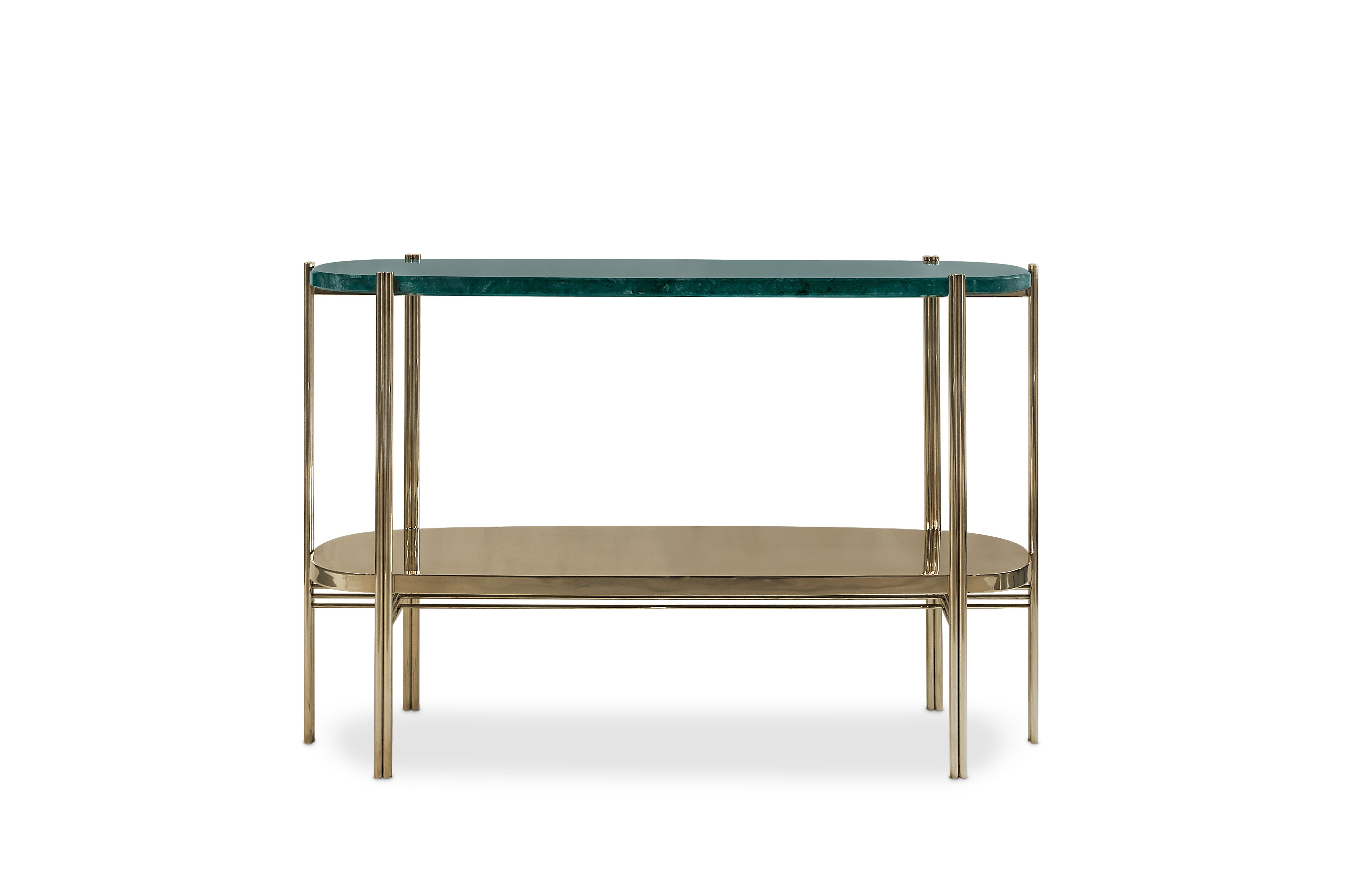 Elke Marble Console Tables With Brass Base Pertaining To Recent Craig Console Is A Midcentury Modern Piece At Maison Et Objet Paris (Gallery 16 of 20)
