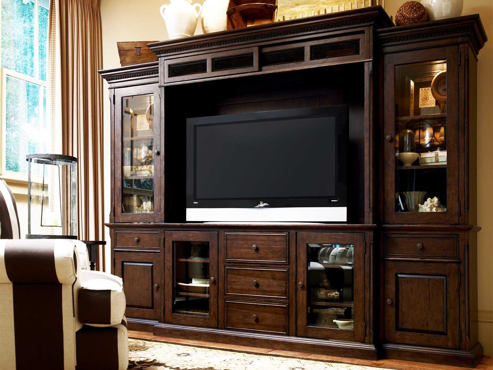 Enclosed Tv Cabinets For Flat Screens With Doors Intended For Well Liked 21 Amazing Living Room Cabinets With Doors Photos (Gallery 20 of 20)