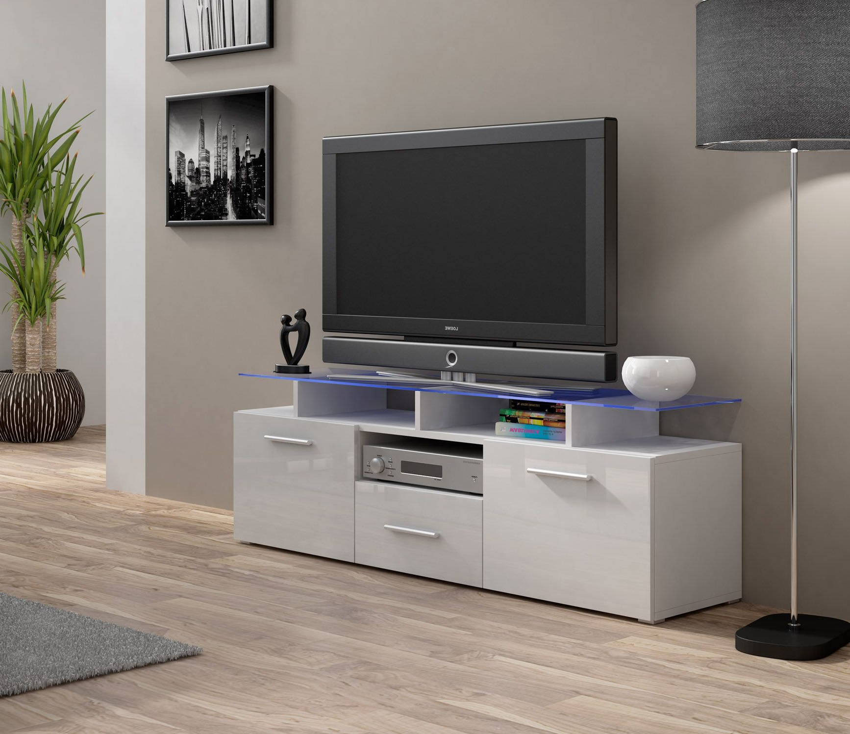 Enea Mini White Tv Stands (View 2 of 20)