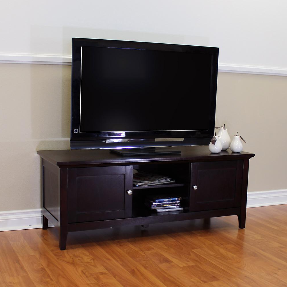 Entertainment Center Tv Stands Inside 2017 Donnieann Ferndale Espresso Tv Stand/entertainment Center 354 – The (View 5 of 20)