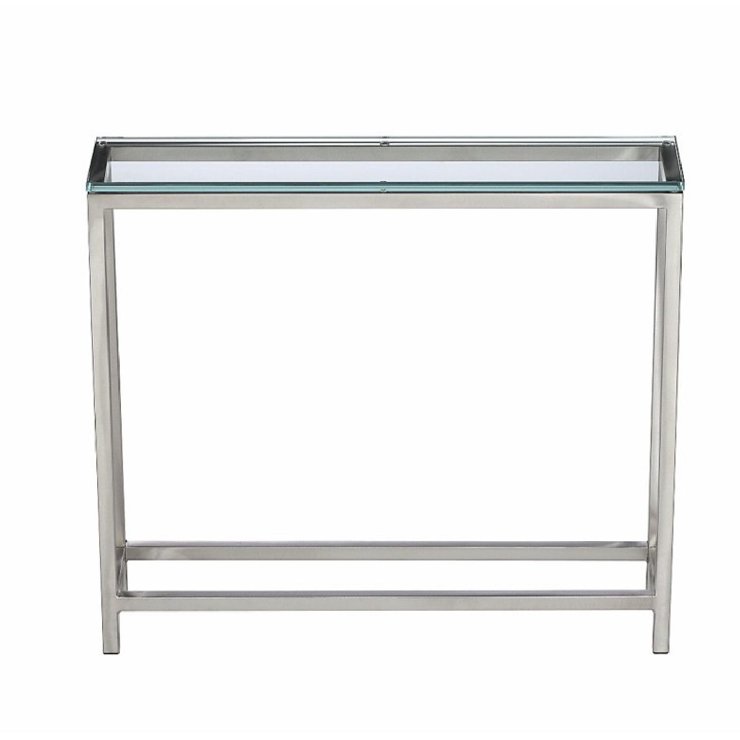 Era Glass Console Tables Within Most Recently Released Crate & Barrel Era Glass Console Table – Aptdeco (View 7 of 20)