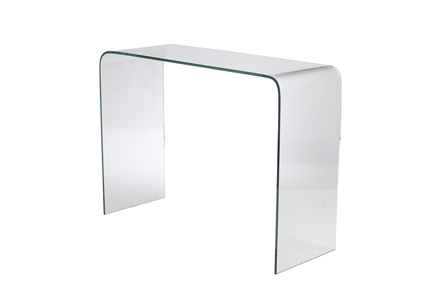Era Glass Console Tables Within Well Liked Glass Waterfall Console Table – The Concept (View 8 of 20)