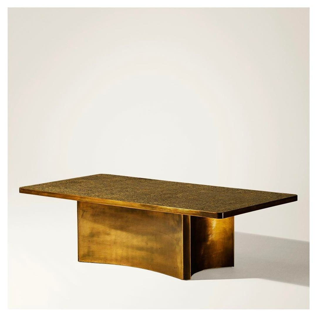 Etruscan' Coffee Table (1965) Philip And Kelvin Laverne, New York Within Favorite Phillip Brass Console Tables (View 4 of 20)