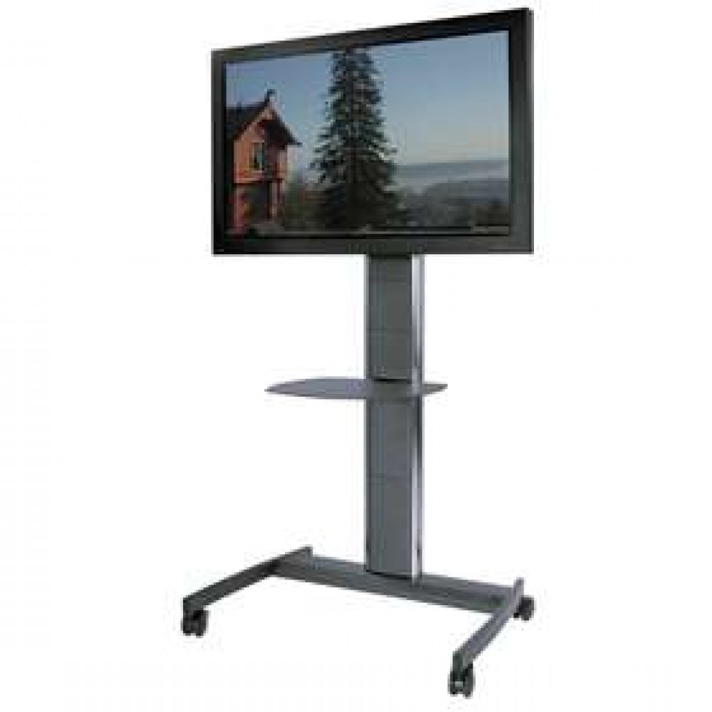 Exhibition Tv Stands & Commercial Trolleys Intended For Well Known Easel Tv Stands For Flat Screens (Gallery 20 of 20)