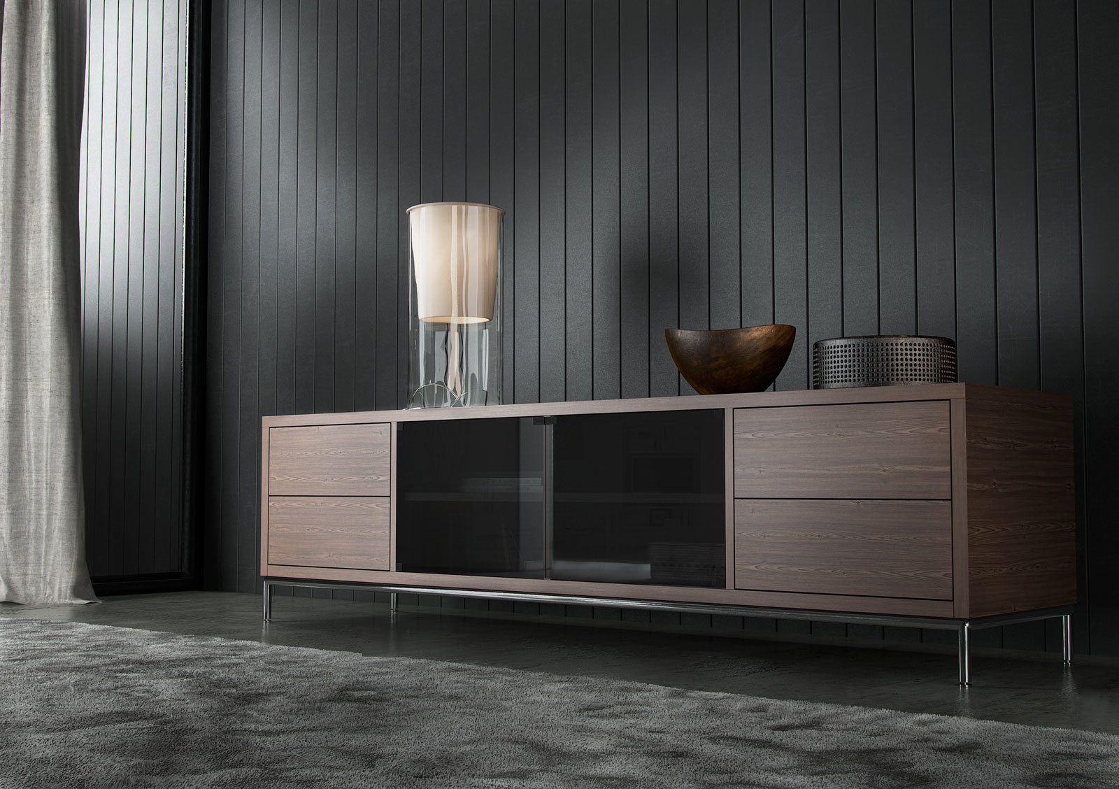 Extra Long Contemporary Tv Entertainment Unit With Storage San With Well Known Extra Long Tv Stands (Gallery 20 of 20)