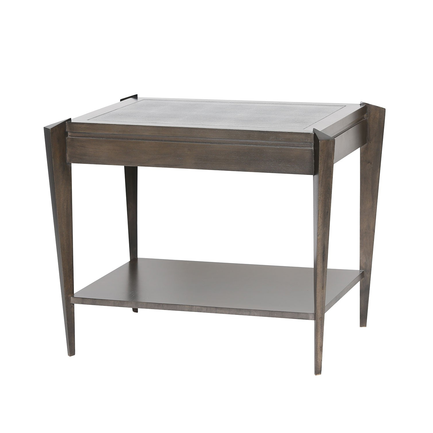 Ezra Tiered Side Table – Grey Shagreen (Gallery 16 of 20)