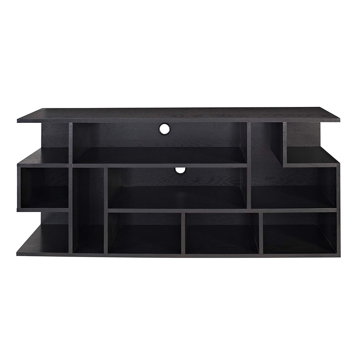 "Famous Abbot 60 Inch Tv Stands With Regard To Amazon: We Furniture 60"" Black Wood Tv Stand Console: Kitchen (View 8 of 20)"