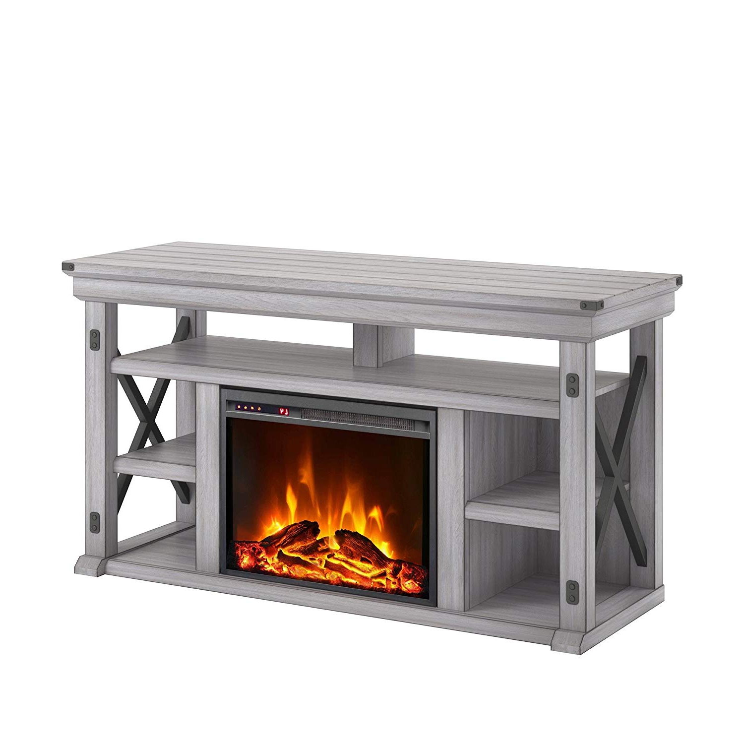 Famous Amazon: Ameriwood Home 1775296Com Wildwood Fireplace Tv Stand With Regard To Kilian Grey 60 Inch Tv Stands (View 8 of 20)