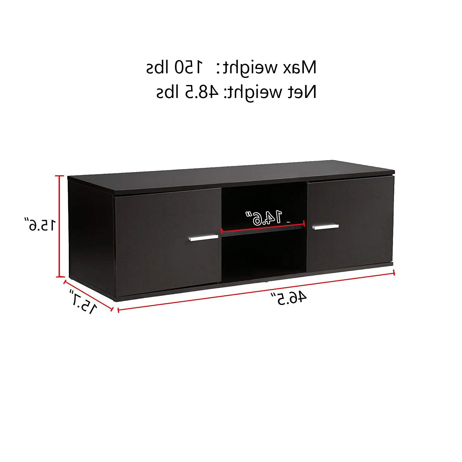 Famous Amazon: Wood Tv Stand Storage Console, Tv Component Bench, Econ Within Casey Umber 74 Inch Tv Stands (View 9 of 20)