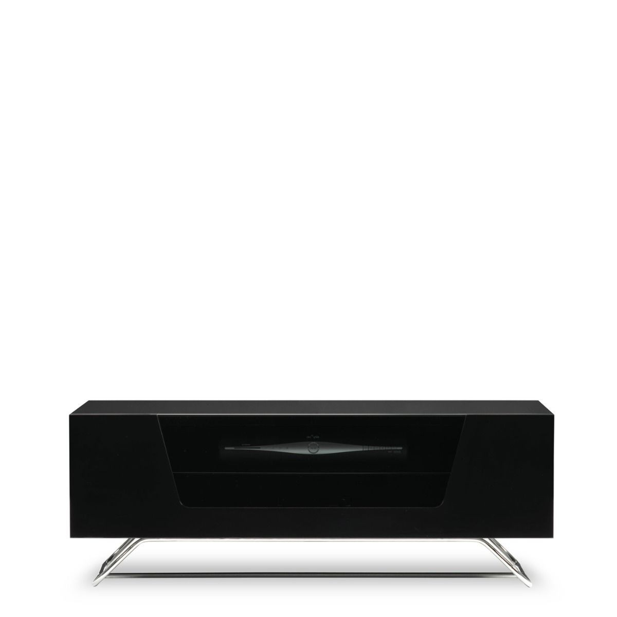 Famous Black Gloss Tv Stands Throughout Alphason Chromium 2 Tv Stand Cro2 1000Cb Blk Black Gloss Tv Cabinet (View 8 of 20)