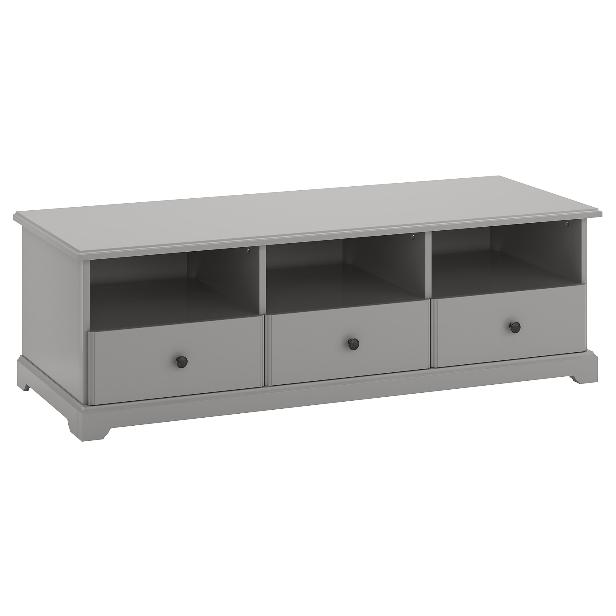 Famous Black Tv Cabinets With Drawers Pertaining To Liatorp Tv Bench Grey 145 X 49 X 45 Cm – Ikea (View 10 of 20)