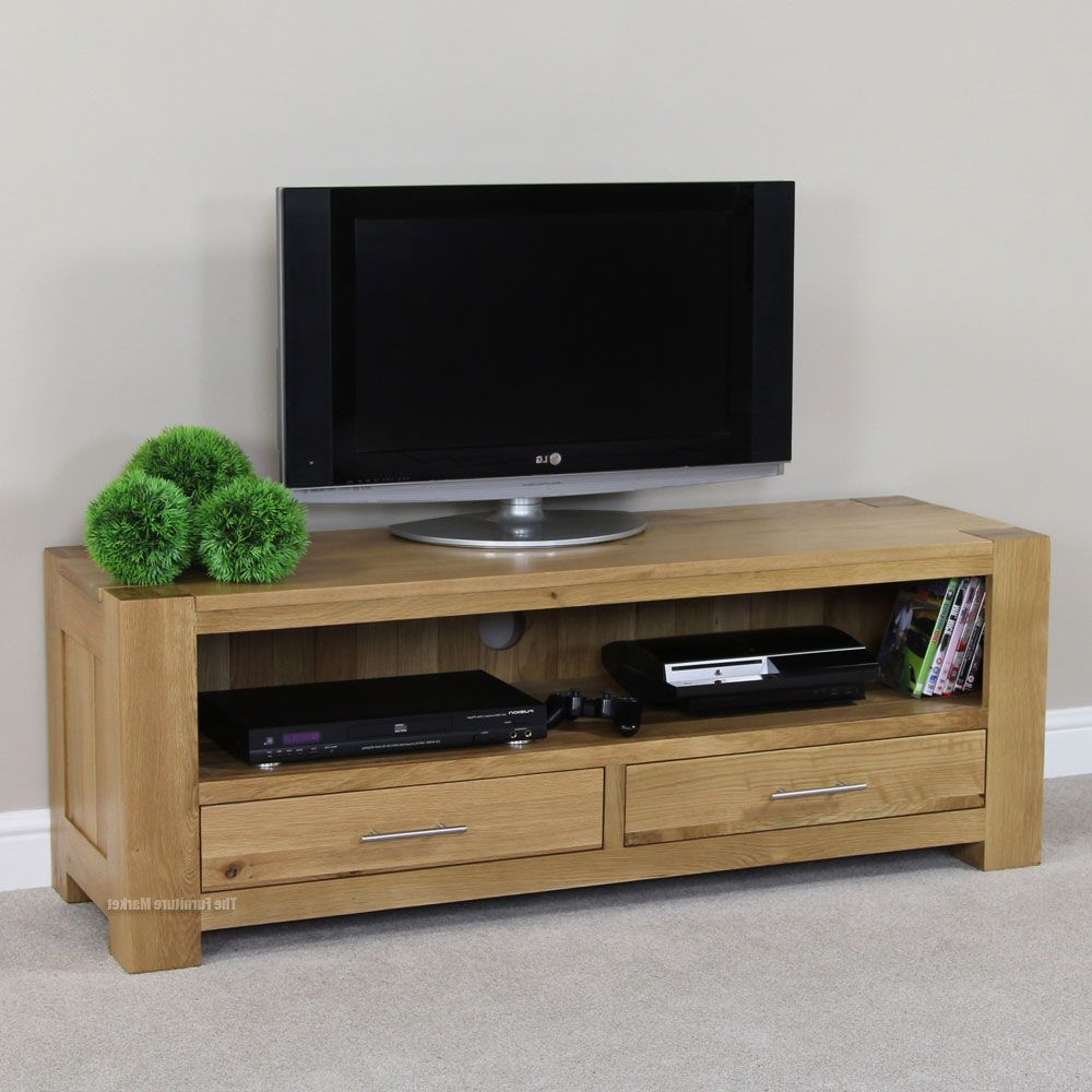 Famous Chunky Oak Tv Units Intended For Chunky Solid Oak Medium Widescreen Tv Unit (Gallery 15 of 20)