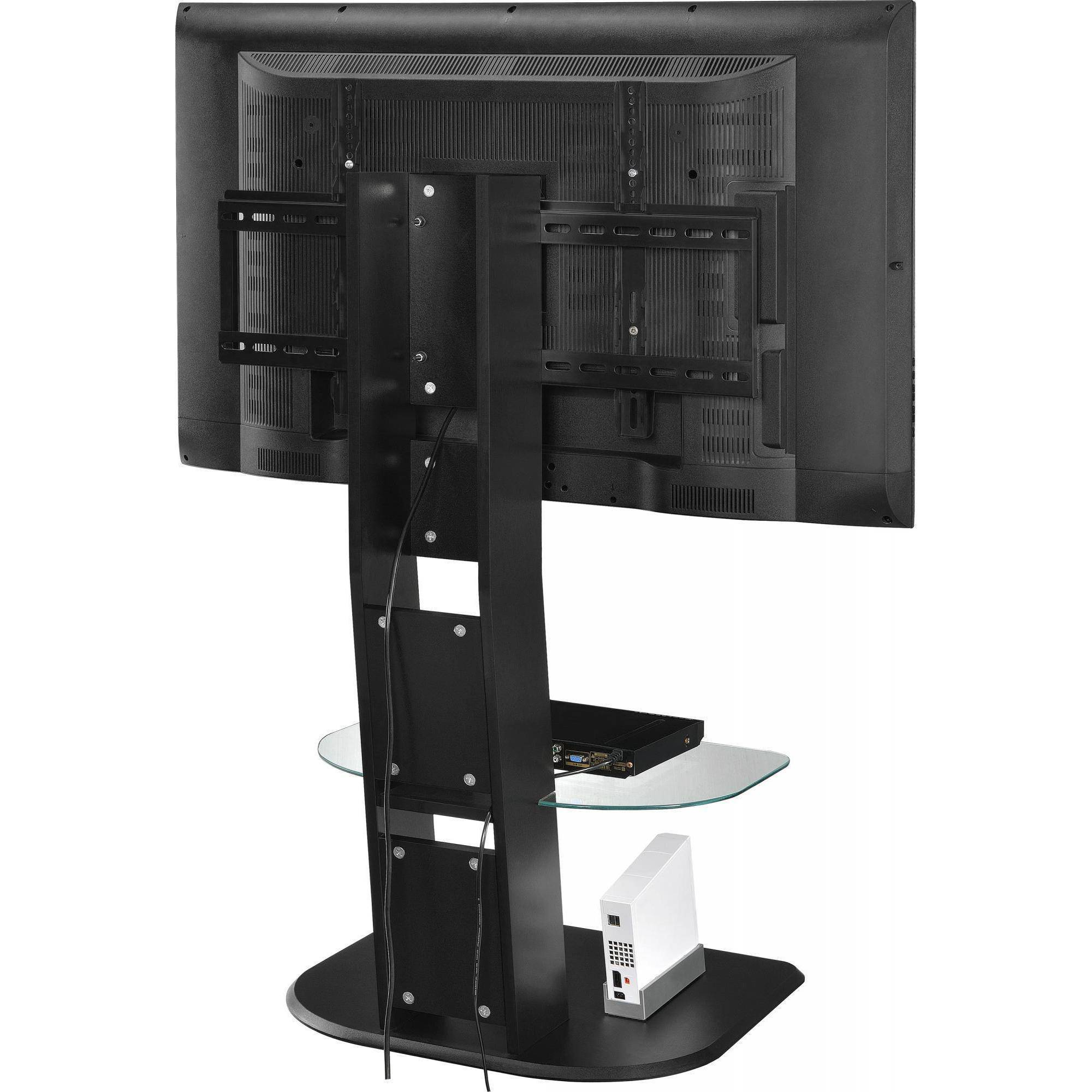 "Famous Compact Corner Tv Stands Regarding Ameriwood Home Galaxy Tv Stand With Mount For Tvs Up To 50"", Black (Gallery 20 of 20)"