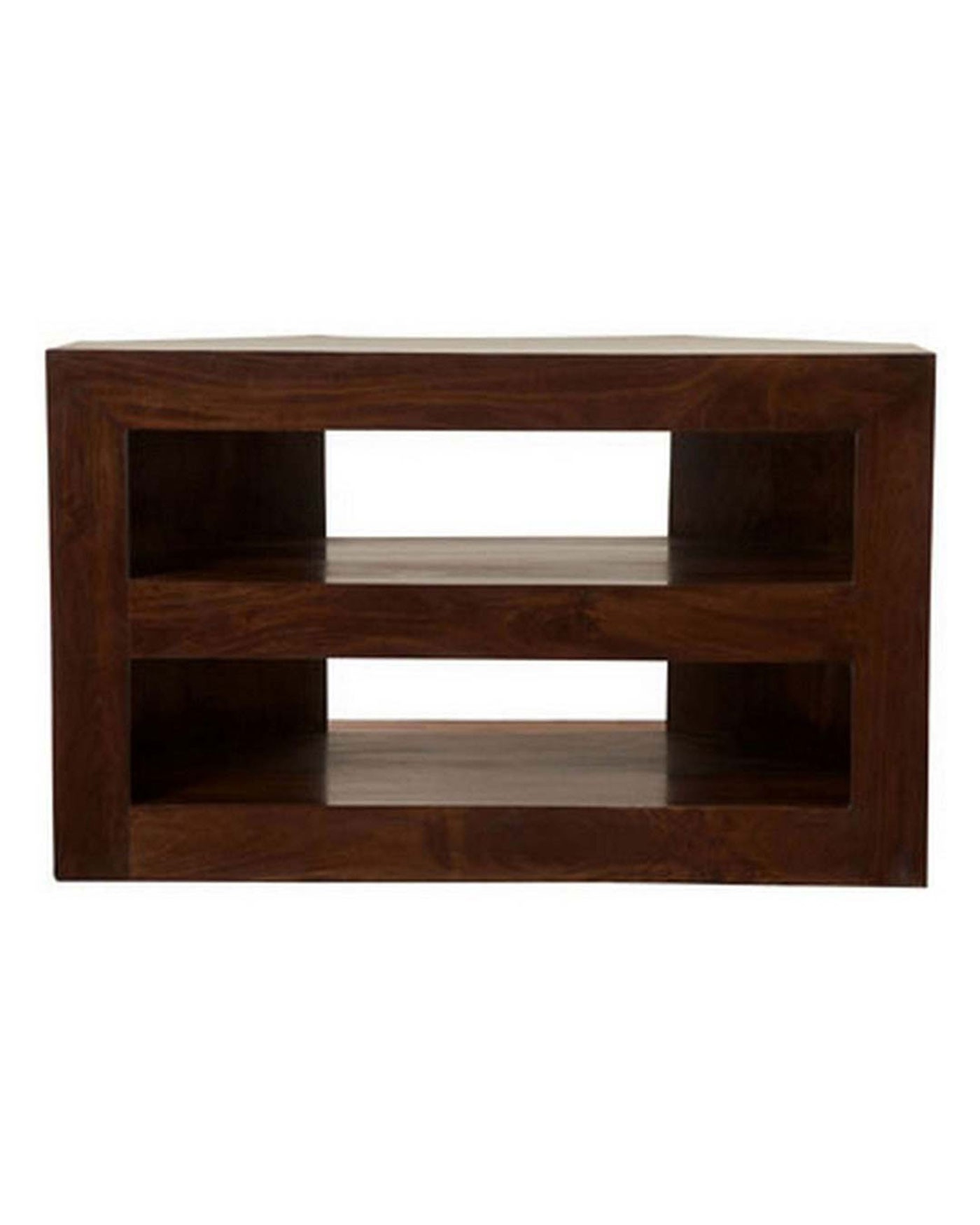 Famous Dakota Corner Tv Unit Dark Shade – Homescapes In Wooden Corner Tv Units (View 4 of 20)
