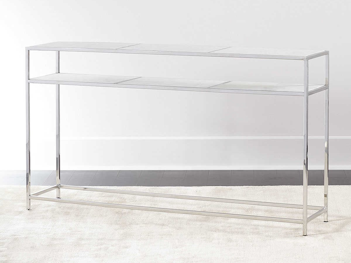 Famous Echelon Console Tables Within Regina Andrew Echelon Etched Marble With Polished Nickel 54''w X  (View 8 of 20)